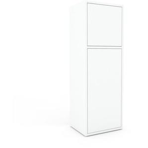Meuble de rangements - Blanc, moderne, pour documents, avec porte Blanc - 41 x 118 x 35 cm, personnalisable