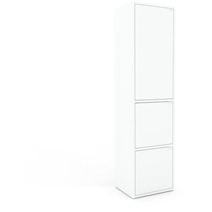 Meuble de rangements - Blanc, moderne, pour documents, avec porte Blanc - 41 x 157 x 35 cm, personnalisable
