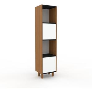 Meuble de rangements en chêne, bois certifié, aspect naturel, pour documents de qualité, solide - 41 x 168 x 35 cm, personnalisable
