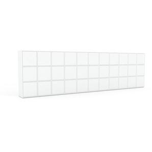 Meuble de rangements - Blanc, moderne, pour documents, avec porte Blanc - 426 x 118 x 35 cm, personnalisable
