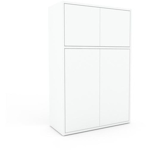 Meuble de rangements - Blanc, moderne, pour documents, avec porte Blanc - 77 x 118 x 35 cm, personnalisable