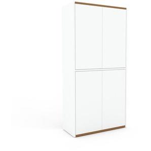 Meuble de rangements - Blanc, moderne, pour documents, avec porte Blanc - 77 x 157 x 35 cm, personnalisable