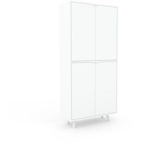 Meuble de rangements - Blanc, moderne, pour documents, avec porte Blanc - 77 x 168 x 35 cm, personnalisable