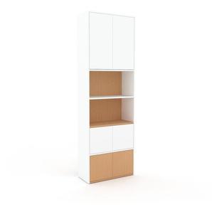 Meuble de rangements - Blanc, moderne, pour documents, avec porte Blanc - 77 x 234 x 35 cm, personnalisable