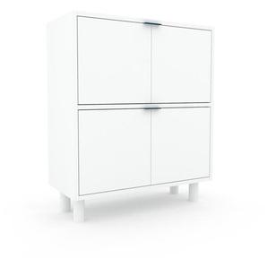 Meuble de rangements - Blanc, moderne, pour documents, avec porte Blanc - 77 x 91 x 35 cm, personnalisable