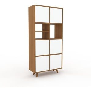 Meuble de rangements - Chêne, moderne, pour documents, avec porte Blanc - 79 x 168 x 35 cm, personnalisable