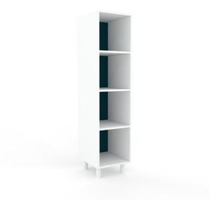 Meuble de rangements - blanc, design minimaliste, pour documents sophistiqué, fontionnel et robuste - 41 x 168 x 47 cm, personnalisable
