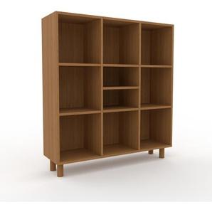 Meuble de rangements en chêne, bois certifié, aspect naturel, pour documents de qualité, solide - 118 x 130 x 35 cm, personnalisable