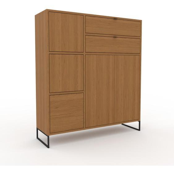 Meuble de rangements - Chêne, design, pour documents, avec porte Chêne et tiroir Chêne - 116 x 130 x 35 cm