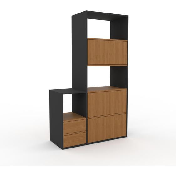 Meuble de rangements - Chêne, design, pour documents, avec porte Chêne et tiroir Chêne - 116 x 195 x 47 cm