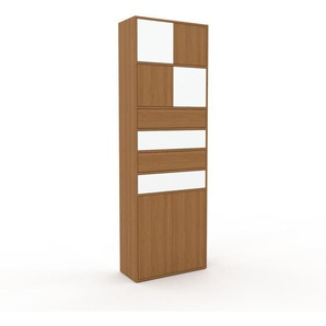 Meuble de rangements - Chêne, design, pour documents, avec porte Chêne et tiroir Chêne - 77 x 233 x 35 cm