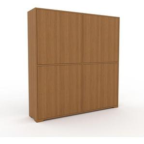 Meuble de rangements - Chêne, moderne, pour documents, avec porte Chêne - 152 x 158 x 35 cm, personnalisable