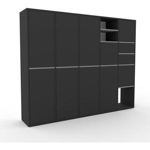 Meuble de rangements - Anthracite, design, pour documents, avec porte Anthracite et tiroir Anthracite - 195 x 157 x 35 cm
