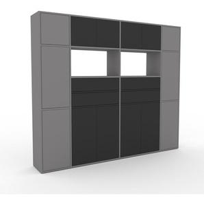 Meuble de rangements - Gris, design, pour documents, avec porte Anthracite et tiroir Anthracite - 229 x 195 x 35 cm