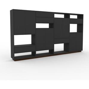 Meuble de rangements - Anthracite, design, pour documents, avec porte Anthracite et tiroir Anthracite - 301 x 162 x 35 cm
