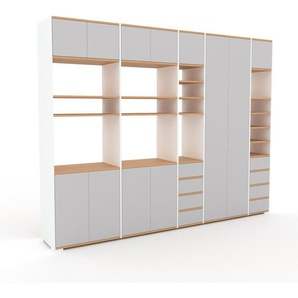 Meuble de rangements - Gris clair, design, pour documents, avec porte Gris clair et tiroir Gris clair - 303 x 235 x 47 cm