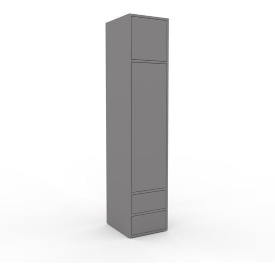 Meuble de rangements - Gris, design, pour documents, avec porte Gris et tiroir Gris - 41 x 195 x 47 cm