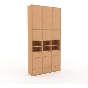 Meuble de rangements - Hêtre, design, pour documents, avec porte Hêtre et tiroir Hêtre - 118 x 234 x 35 cm