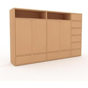 Meuble de rangements - Hêtre, design, pour documents, avec porte Hêtre et tiroir Hêtre - 190 x 118 x 35 cm