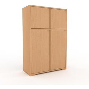 Meuble de rangements - Hêtre, moderne, pour documents, avec porte Hêtre - 79 x 120 x 35 cm, personnalisable