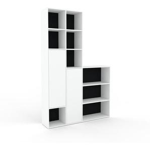 Meuble de rangements - Noir, moderne, pour documents, avec porte Blanc - 154 x 233 x 35 cm, personnalisable