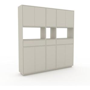 Meuble de rangements - Vert de gris, design, pour documents, avec porte Vert de gris et tiroir Vert de gris - 190 x 200 x 35 cm