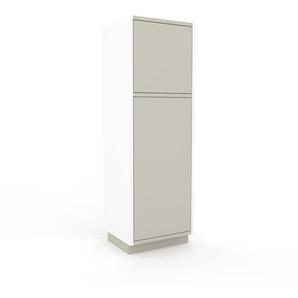 Meuble de rangements - Blanc, moderne, pour documents, avec porte Gris sable - 41 x 124 x 35 cm, personnalisable