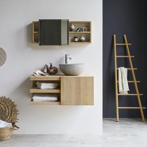 Meuble Salle de bain en bois de Teck 90 Typo