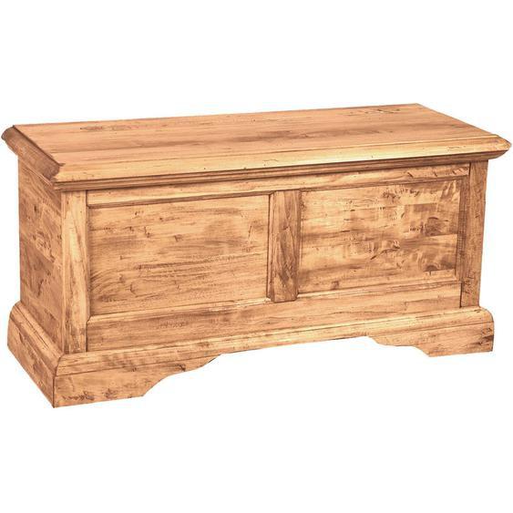 Biscottini - Meuble style rustique en bois massif de tilleul finition naturelle L100 xPR38xH48 cm