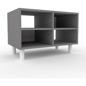 Meuble TV - Gris, design, meuble hifi, multimedia sophistiqué, pratique - 79 x 53 x 47 cm, personnalisable