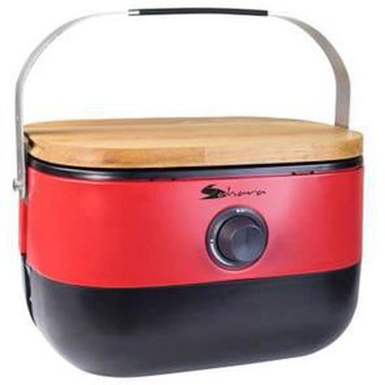 Mini barbecue à gaz portable - Rouge