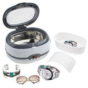 Mini nettoyeur à ultrasons bain cuve nettoyage bijoux montre gris