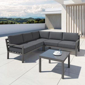 MIO - Ensemble salon de jardin design aluminium - Gris - int�rieur/ext�rieur - AVRIL PARIS