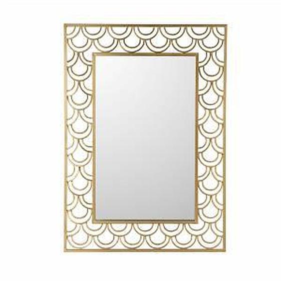 Miroir 76x106 cm en verre et métal or