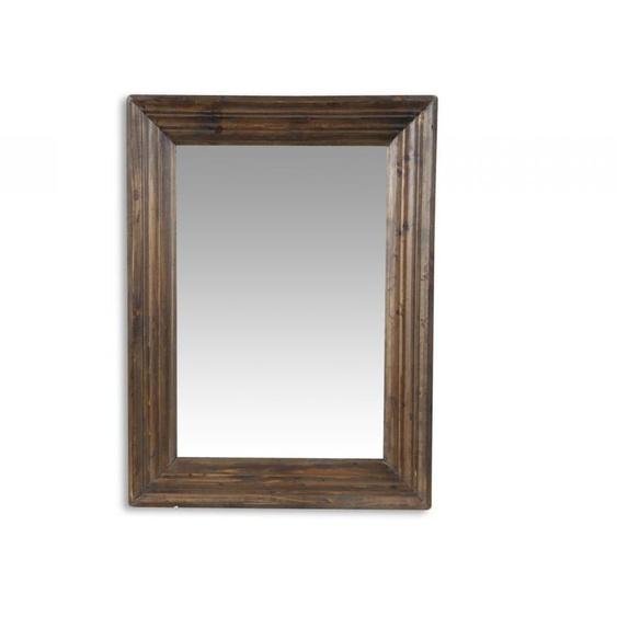 Miroir Ancien Rectangulaire Vertical Bois 58x7x78cm - Marron