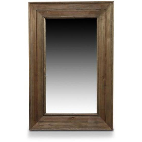 Miroir Ancien Rectangulaire Vertical Bois 64.5x5.5x99cm - Marron