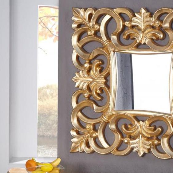 Miroir baroque moderne carré - Chester - Doré