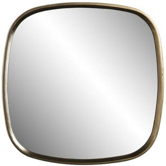 Miroir coins arrondis - Aluminium jaune doré - 69 x 70 cm