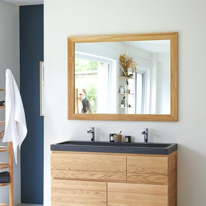 Miroir en bois de Teck Tona brut 120x90
