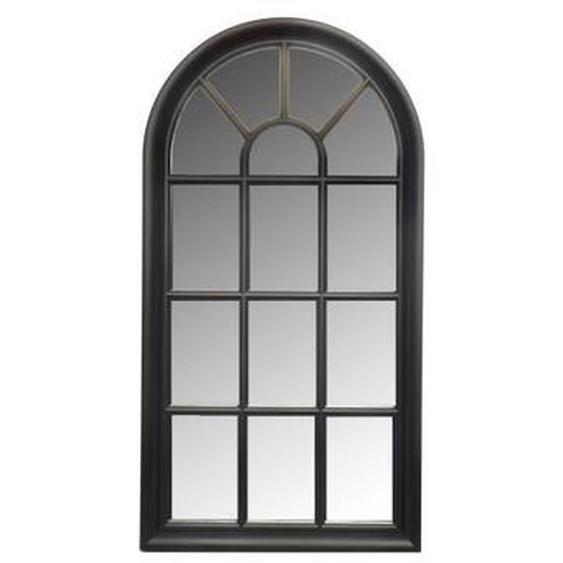 Miroir fenêtre arrondie - 71x36 cm - Noir