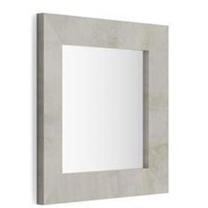 Miroir mural carré, cadre béton, Giuditta 65x65