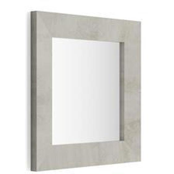 Miroir mural carré, cadre gris béton, Giuditta 65x65