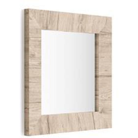 Miroir mural carré, cadre Chêne naturel, Giuditta 65x65