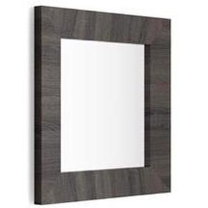 Miroir mural carré, cadre Wengé, Giuditta 65x65