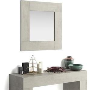 Miroir mural carré Evolution, Béton