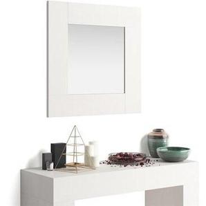 Miroir mural carré Evolution, Frêne Blanc