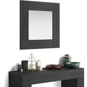Miroir mural carré Evolution, Frêne Noir
