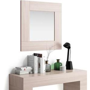 Miroir mural carré Evolution, orme perle