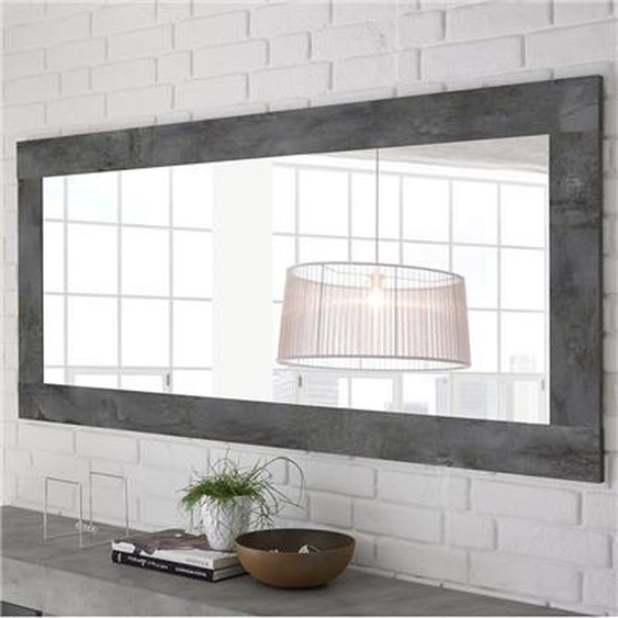 Miroir mural design gris foncé SERENA