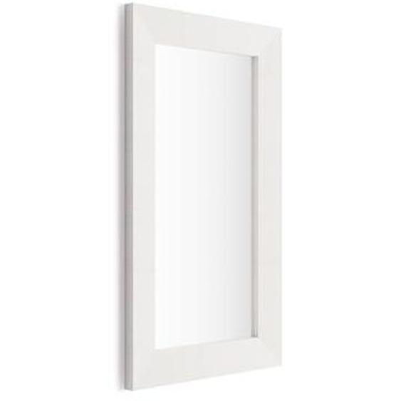 Miroir mural rectangulaire, cadre Frêne blanc, Giuditta 110x65